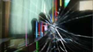 シャープの液晶テレビの液晶画面が割れたらこうなります・・・・・・・ 液晶テレビ 検索動画 26
