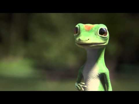 GEICO Gecko Laughing Fit Commercial ~ Gecko Behind the Scenes