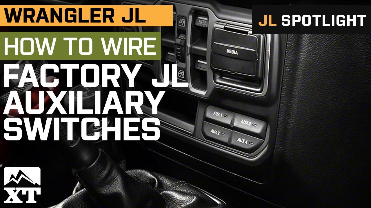 hight resolution of how to wire auxiliary lights to jl wrangler s factory switch panel
