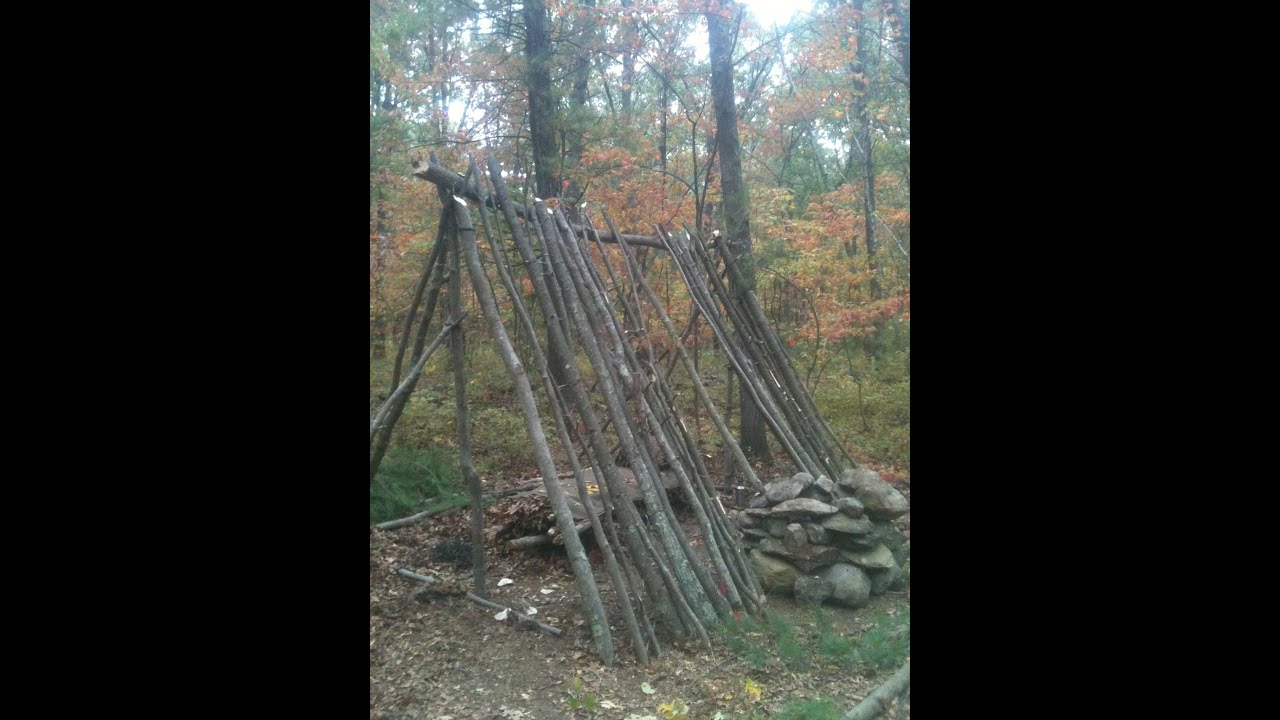 Long Term Survival Shelter : Building a long term survival shelter shanty part