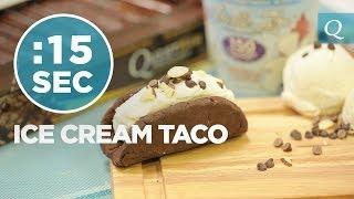 Quest Bar Ice Cream Taco - #15secondrecipe