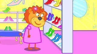 Lion Family Store Sale Cartoon for Kids