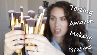 TESTING AFFORDABLE AMAZON MAKEUP BRUSHES | Brush Review Series