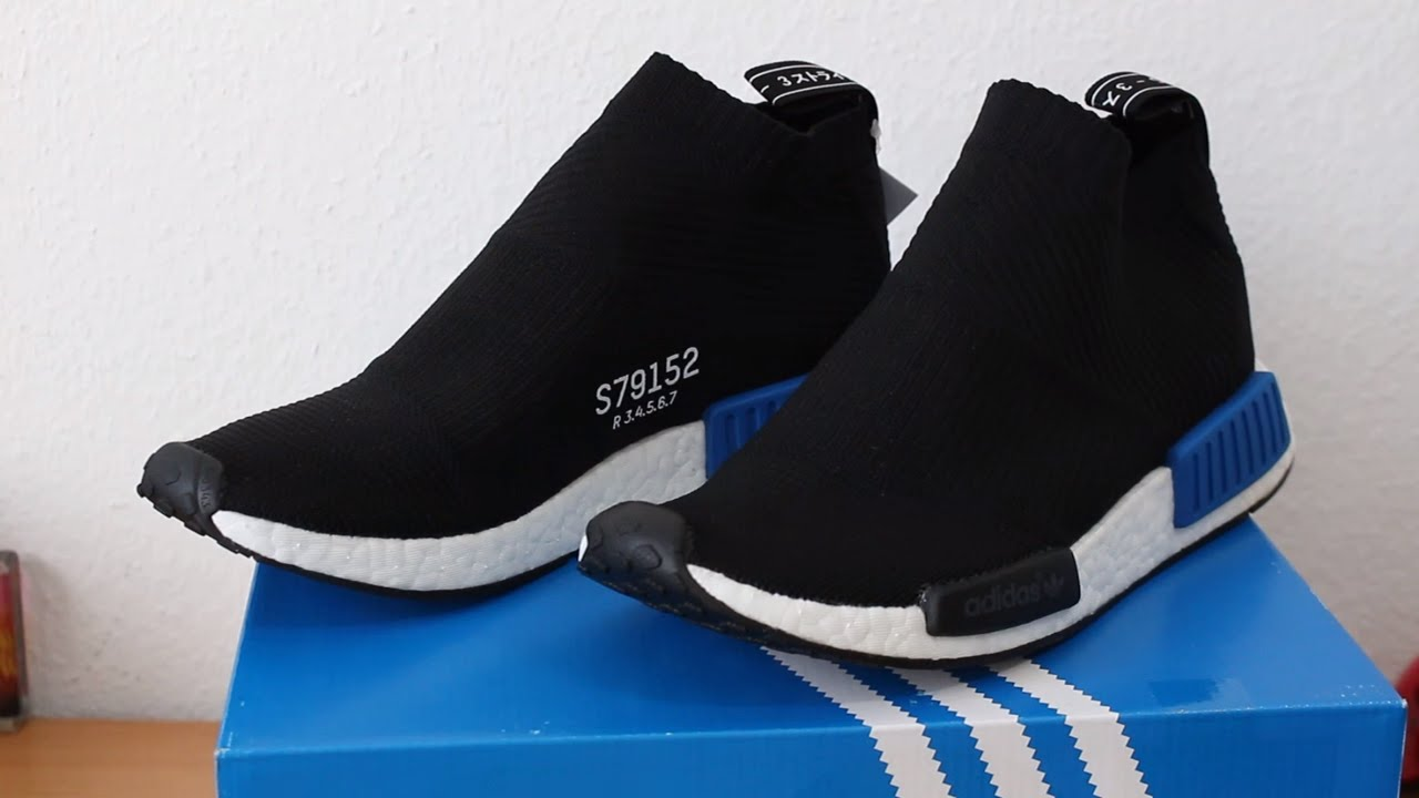 premium selection be802 83e77 Unboxing and Review of Adidas NMD City Sock PK Black - YouTube