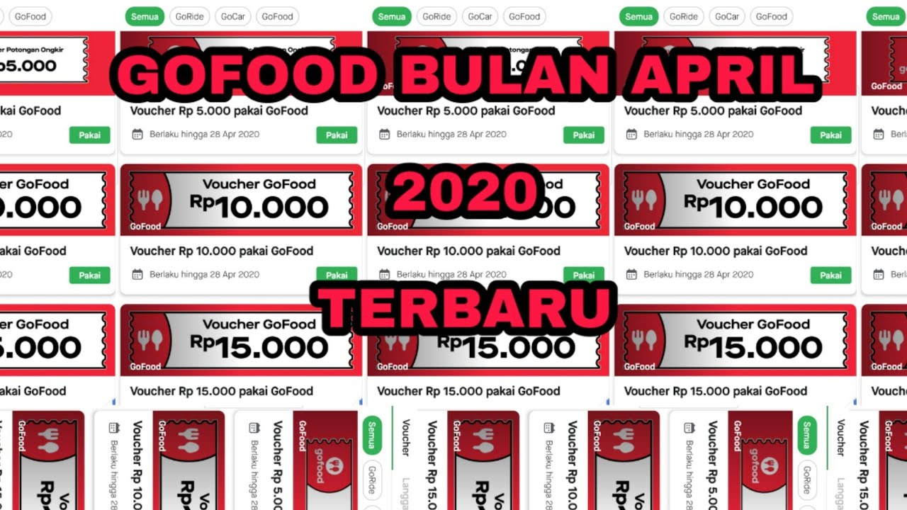 Kode Promo Gofood Terbaru 2020 Bulan April Youtube