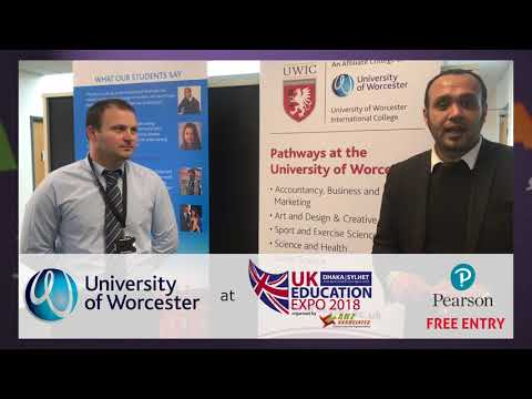 University of Worcester at UK Education Expo 2018