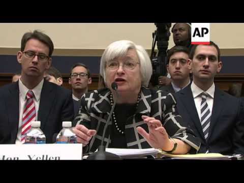 New Federal Reserve Chair Janet Yellen told Congress that if the economy keeps improving, the Fed wi