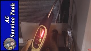 How to FIND a REFRIGERANT LEAK in an AC Unit with an Electronic Leak Detector!