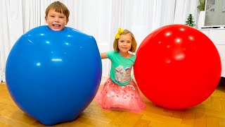 Max and Katy stuck in balloon