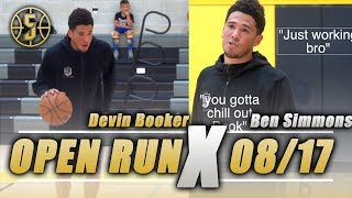 Devin Booker, Ben Simmons ,Trey lyles Destroy Open gym *crazy*