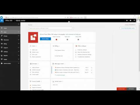 Office 365 Admin Center Tutorial | Office 365 Administration