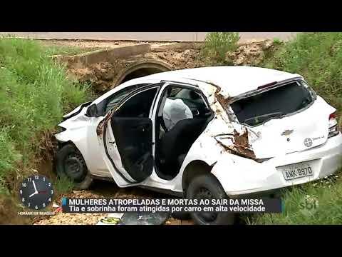 Atropelamento mata duas mulheres em estrada da Grande Curitiba | Primeiro Impacto (23/10/17)