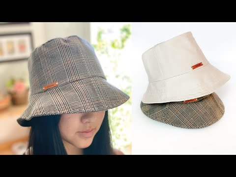 Bucket Hat DIY / How to make a hat using old pants /transform thrifted pants to charming bucket hat