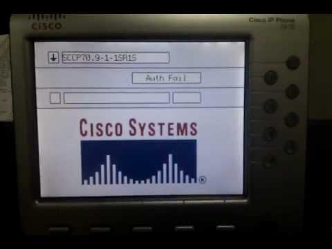 Cisco IP Phone firmware upgrade - auth fail ?