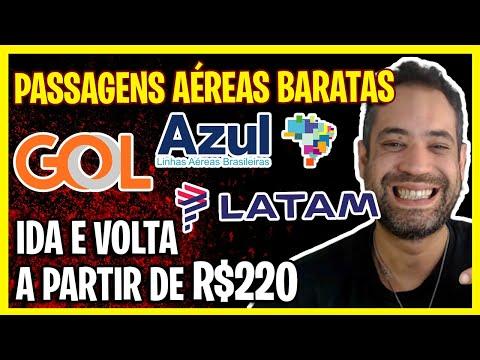 PASSAGENS AÉREAS BARATAS GOL, LATAM E AZUL HOJE! IDA E VOLTA A PARTIR DE R$220