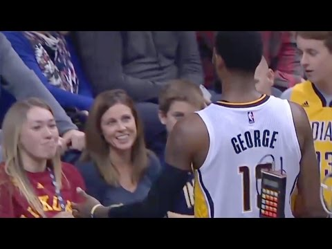 Paul George Ejected After Hitting Fan In Face with Ball