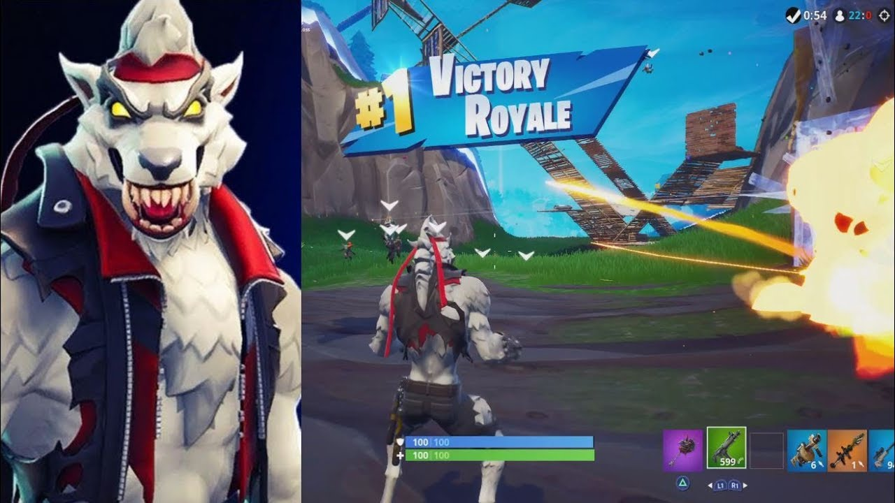 New Tier 100 Dire White Werewolf Gameplay Epic Victory Royale