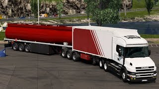 [1.34] Euro Truck Simulator 2 | B-Train With Cistern [MP-SP] | Mods