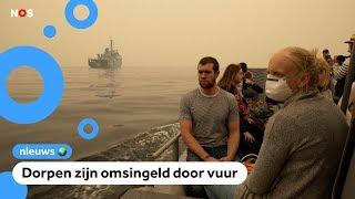Australiërs moeten over water vluchten voor bosbranden