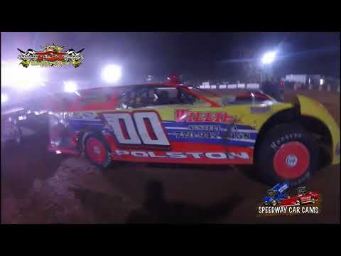 #00 Dalton Polston - Super Late Model - ICE BOWL 2018 - Talledega Short Track - In Car Camera