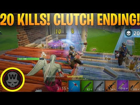 My first 20 BOMB! CLUTCH ENDING! (Fortnite Battle Royale)
