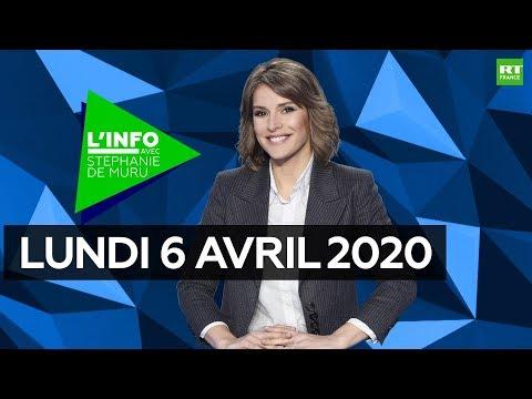 L'Info avec Stéphanie De Muru – Lundi 6 avril 2020: covid-19, confinement, conséquences économiques