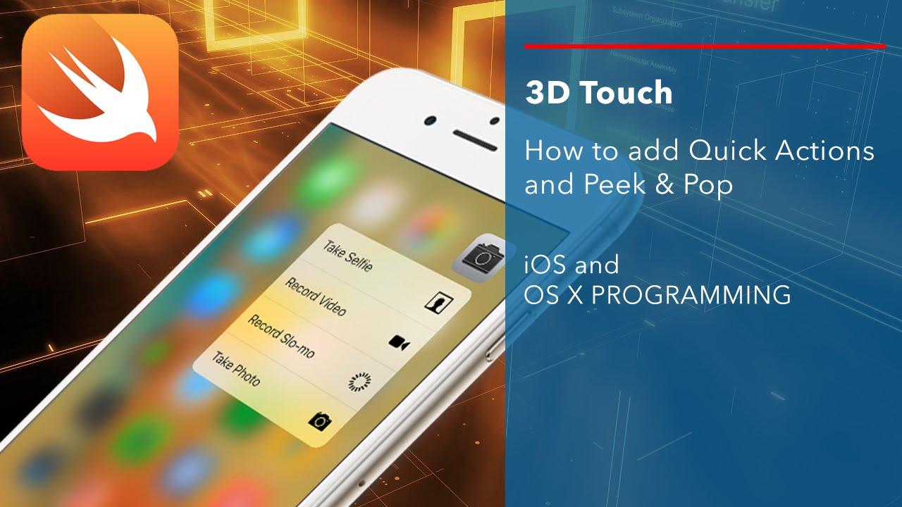 ios 9 sdk 3d touch