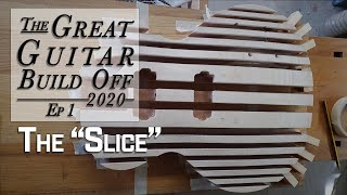 My Great Guitar Build Off 2020 Ep. 1 Taking a Kit Guitar & cutting it up into many tiny pieces!