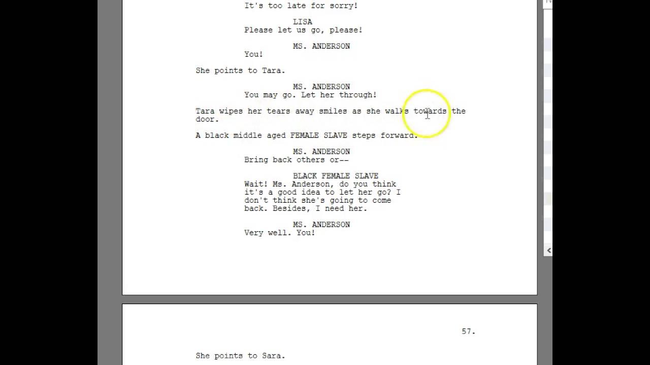 screenwriting formatting 101 using the double dash youtube