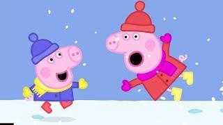 Peppa Pig Italiano - Divertimento sulla neve con Peppa Pig e George! | Cartoni Animati