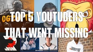 Top 5 Gaming Youtubers That Went Missing (Infrared68, Redkeymon, KSI...)