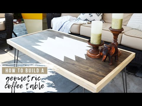 DIY Geometric Wood Art Table | How To Make A Coffee Table