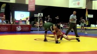 2013 Canada Summer Games: 69 kg Tyler Rowe (ONT) vs. Justin Vinet (NB)