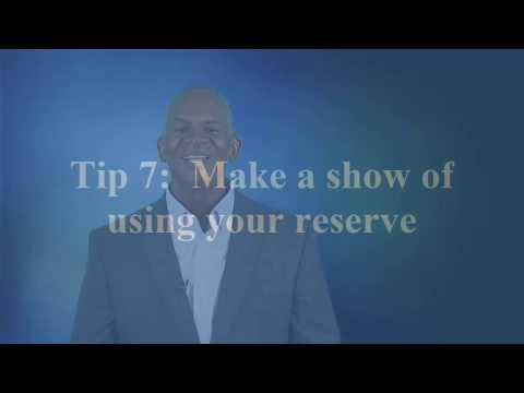 Project Reserve:  Eight Tips You Need to Know