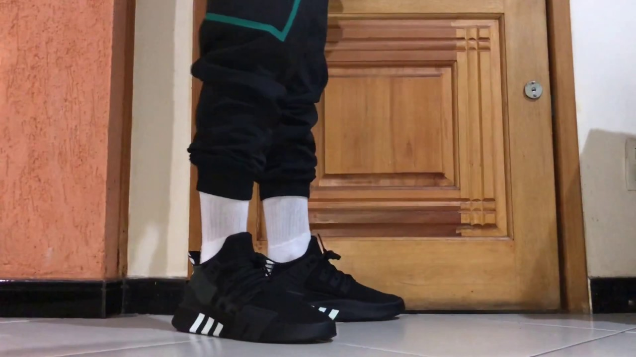 new concept 78652 0f860 ADIDAS EQT BASKETBALL ADV CORE BLACK ON FEET