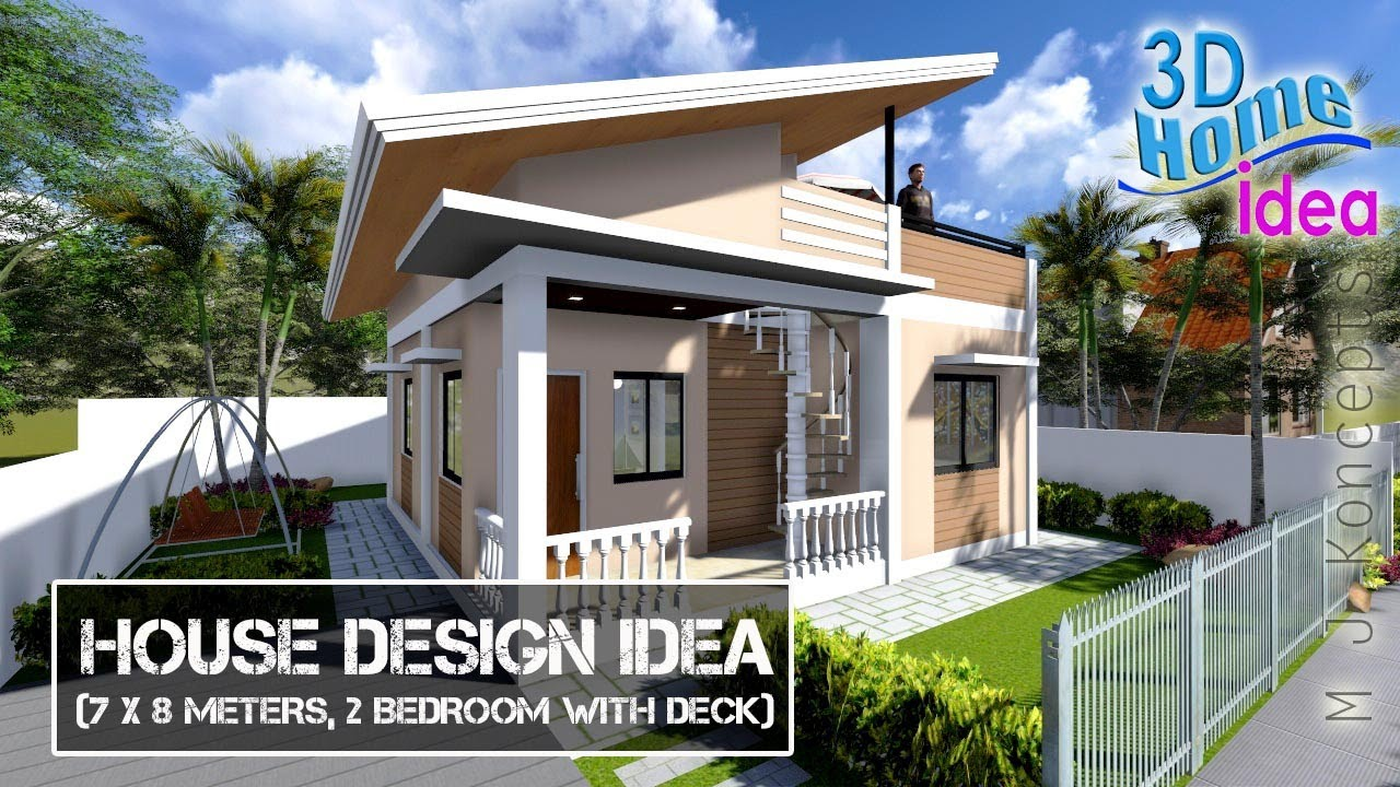 House Design Idea 7x8meters 2bedroom With Roof Deck Youtube