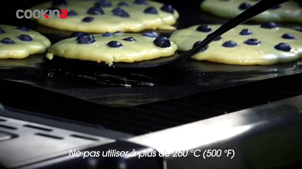 demonstration de la feuille de cuisson reutilisable pour barbecue cookina