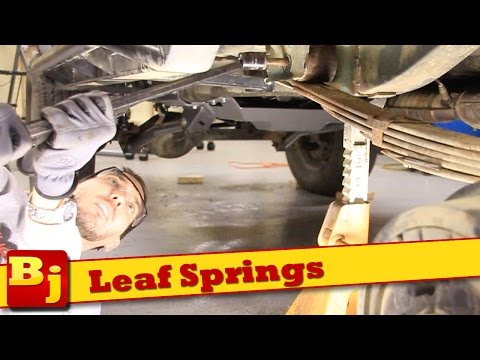 How To Install New Leaf Springs – Rough Country