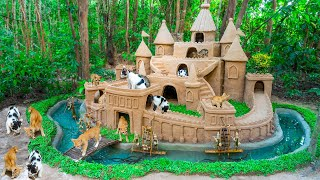 Cat Rescue From Abandoned Feeding Cat 50 Days Build Castle And Eel Pond Around Dog House