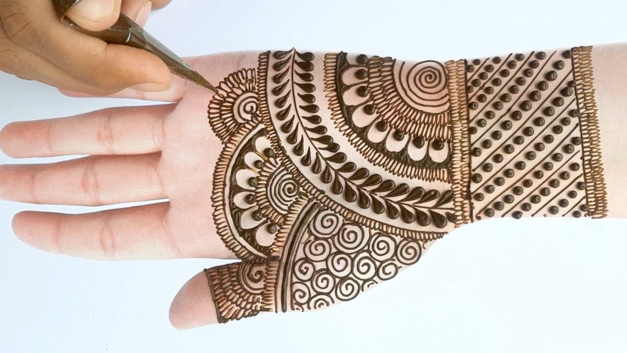 · 3.beautiful new look mehendi designs: Simple Beautiful Full Hand Mehndi Design Mehandi Design Latest Mehendi Design Front Hand Youtube