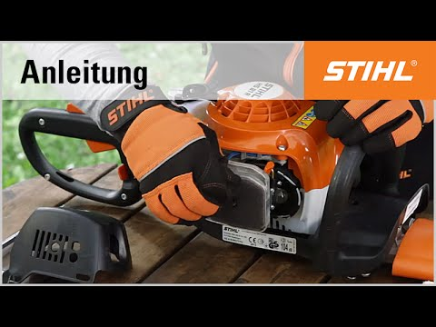 die reinigung des luftfilters einer stihl benzin heckenschere youtube. Black Bedroom Furniture Sets. Home Design Ideas