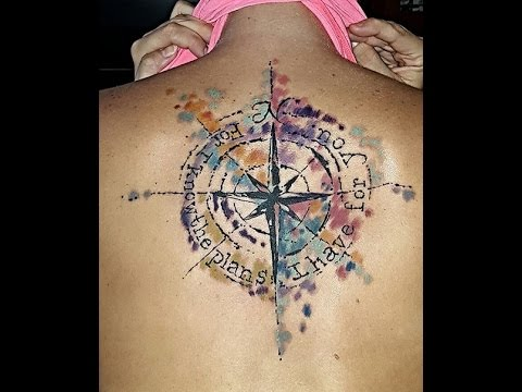 Compass tattoo is the best solution for your body - YouTube