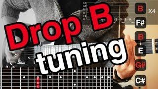 Краще Падіння B Гітара Тюнінг (Падіння Б = Б Ф# Б Е Р# C#)