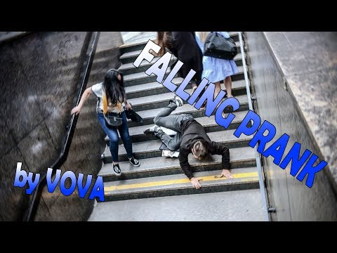 Falling Off The Stairs - Prank