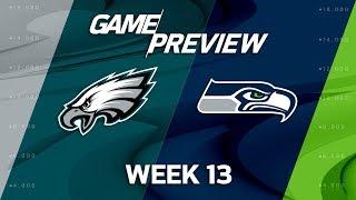 Philadelphia Eagles vs. Seattle Seahawks | NFL Week 13 Game Preview | Move the Sticks