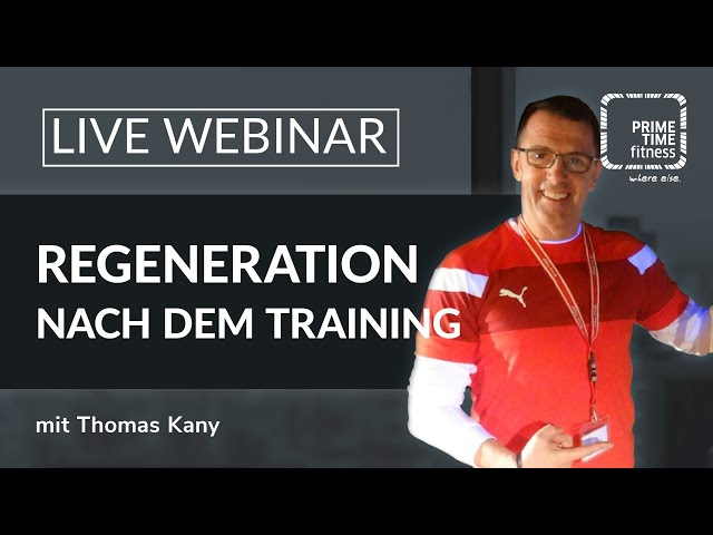 PRIME TIME Webinar: Regeneration nach dem Training