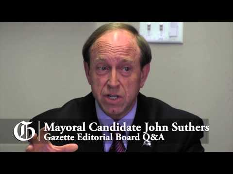Colorado Springs mayoral candidate John Suthers meets with Gazette Editorial Board