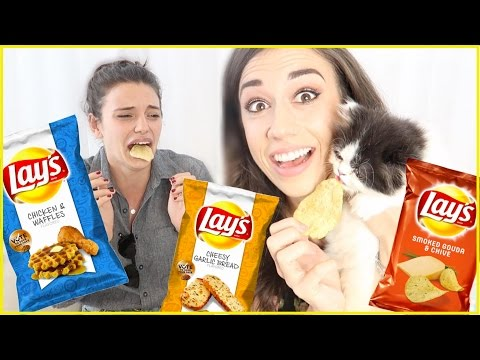 TASTING WEIRD FLAVORED CHIPS!