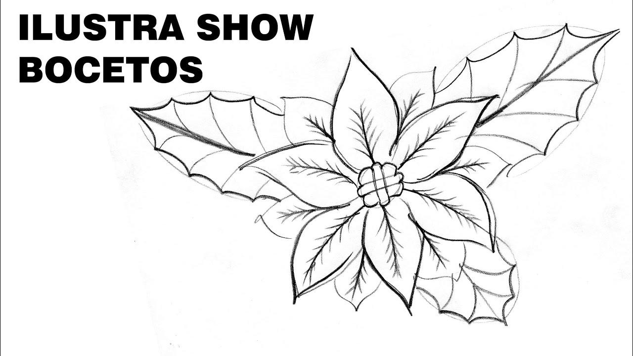 Cómo Dibujar Flores De Nochebuena Navideñas 2 Tutorial Ilustra Show