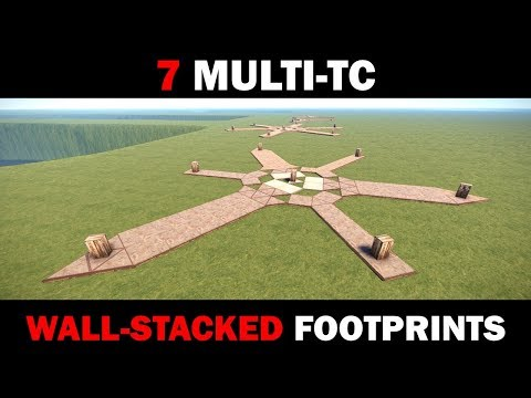 7 Multi-TC Wall-Stacked Footprints for Huge Rust Clan Bases